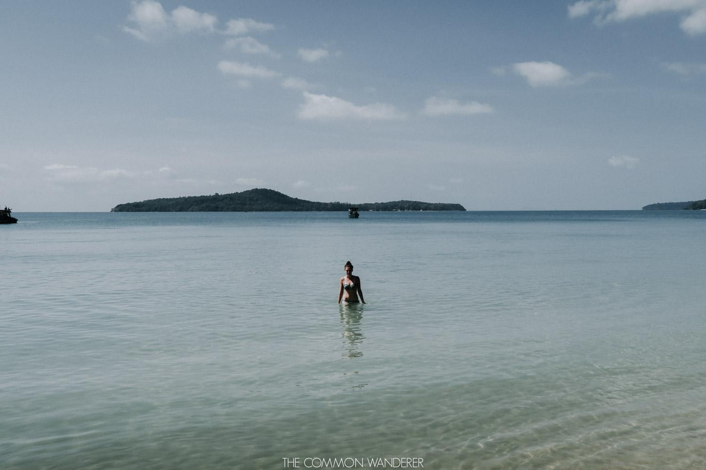 swimming on koh ta kiev cambodia