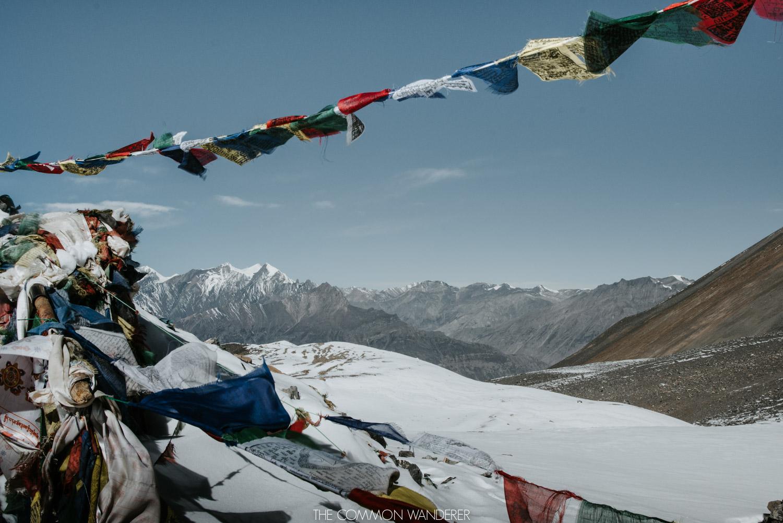 prayer flags over the Annapurna Circuit