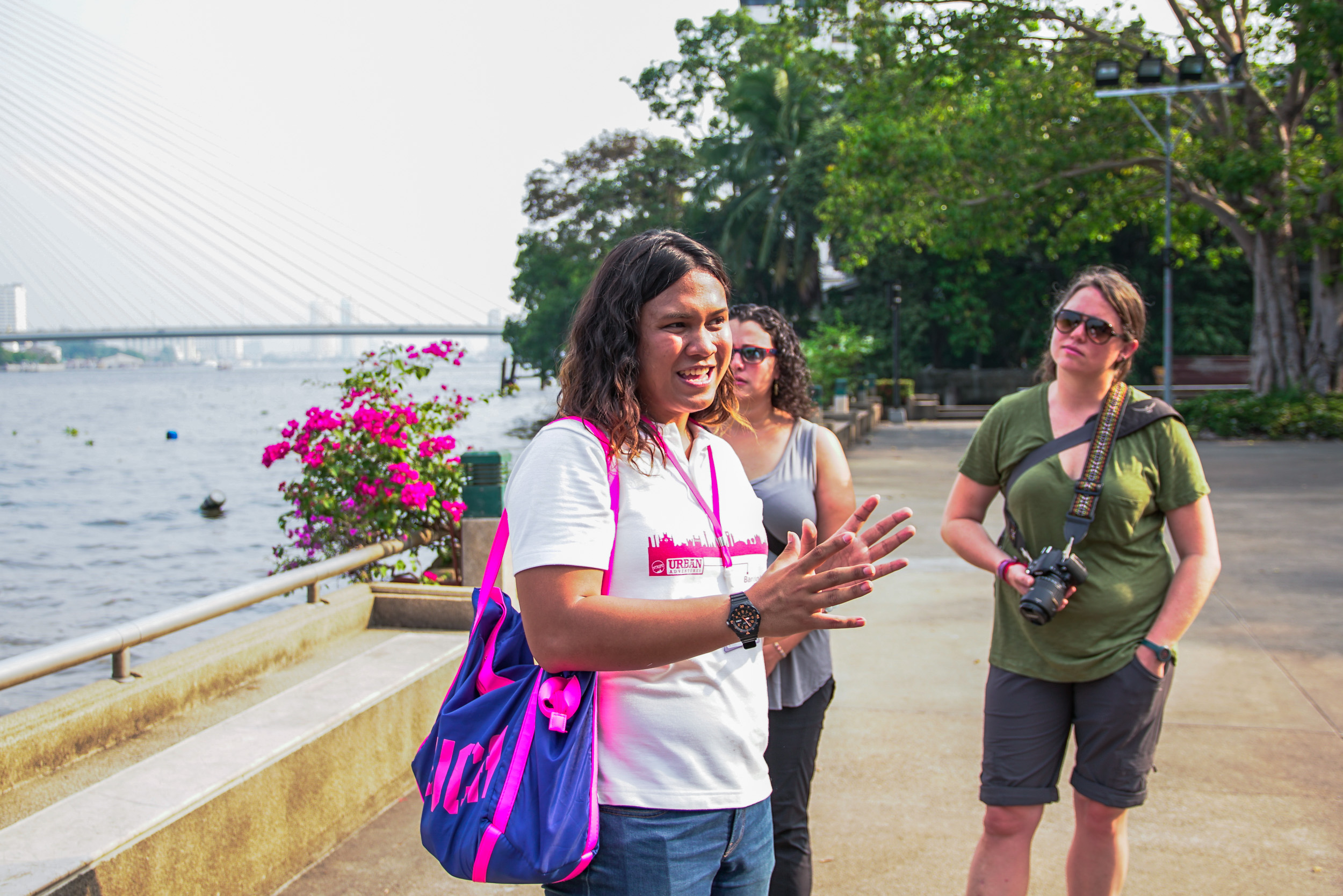 Gof explains the history of Phra Sumeru Fortress on our Urban Adventures Bangkok Tuk Tuk ride.jpg