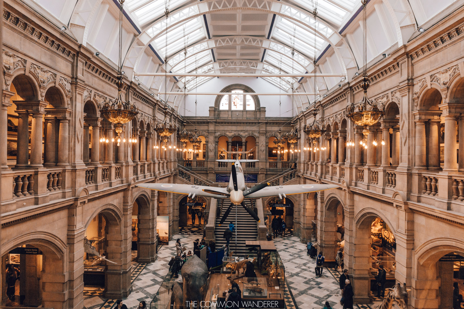 The hanging Spitfire at the Kelvingrove Museum, Glasgow - weekend break in Glasgow