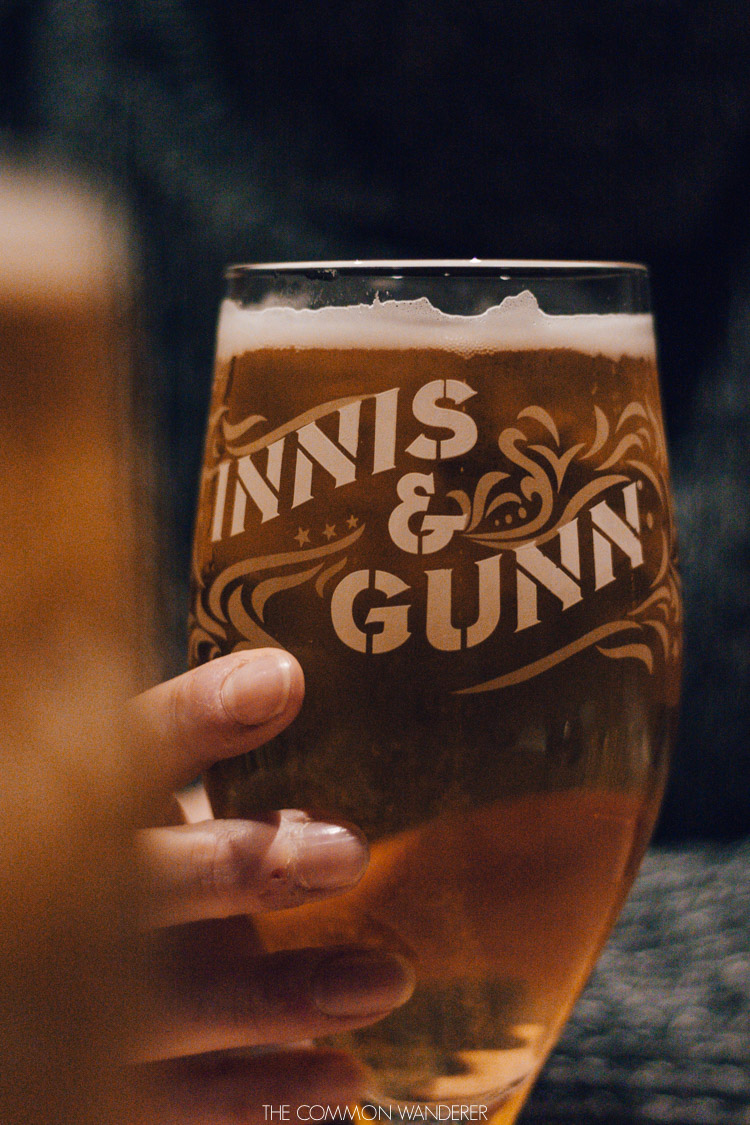 Innis and Gunn beers  on our weekend in Glasgow