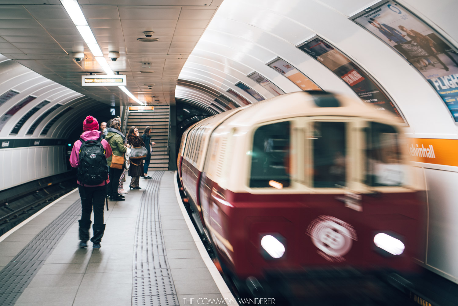 The Glasgow Subway, an easy way to get around on a weekend in Glasgow