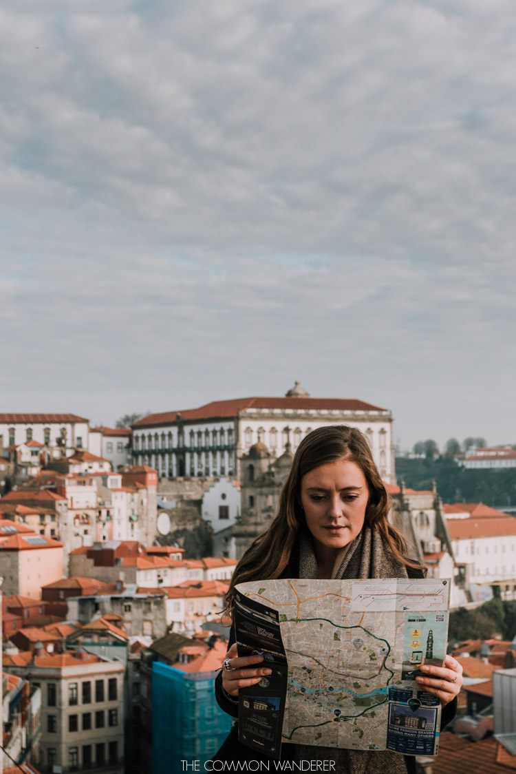 Checking the map for the perfect Porto photo locations
