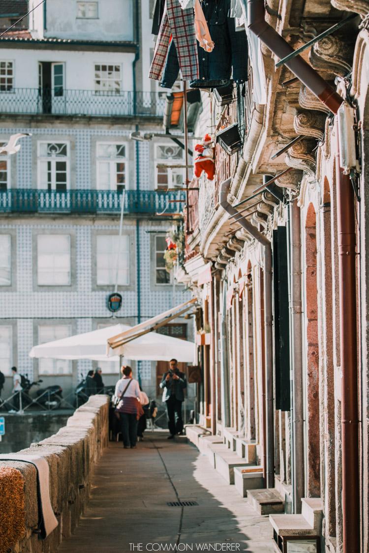 The riverside walk along Ribeira district in Porto