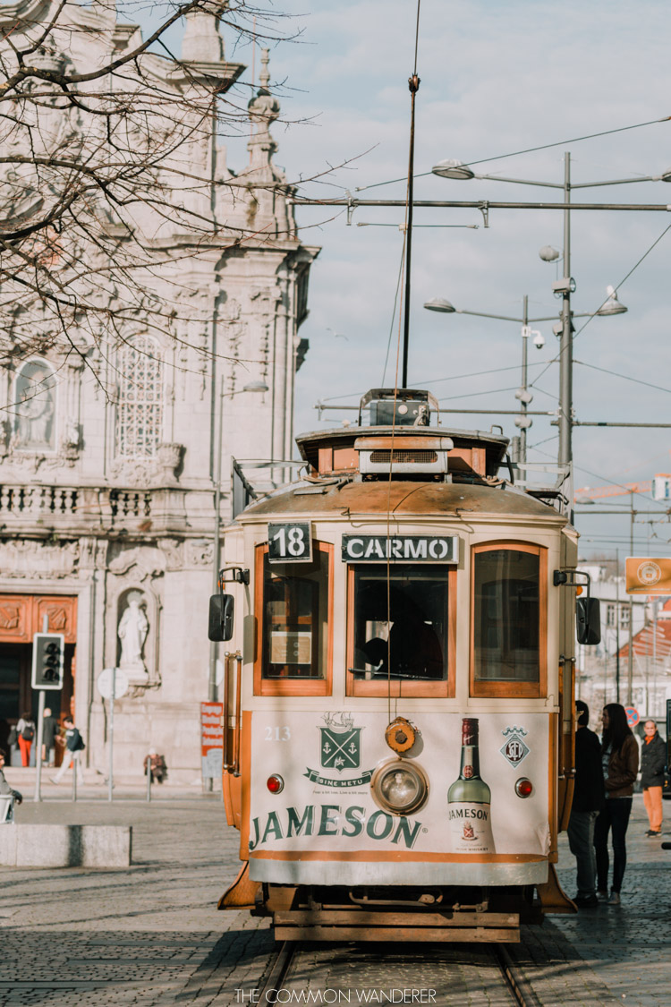 The old Porto city tram - a must-do for travellers in Porto