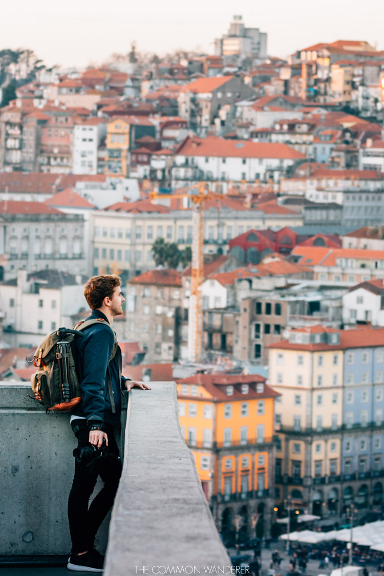 Mark looking out over Porto from Esplanada - Porto photography locations