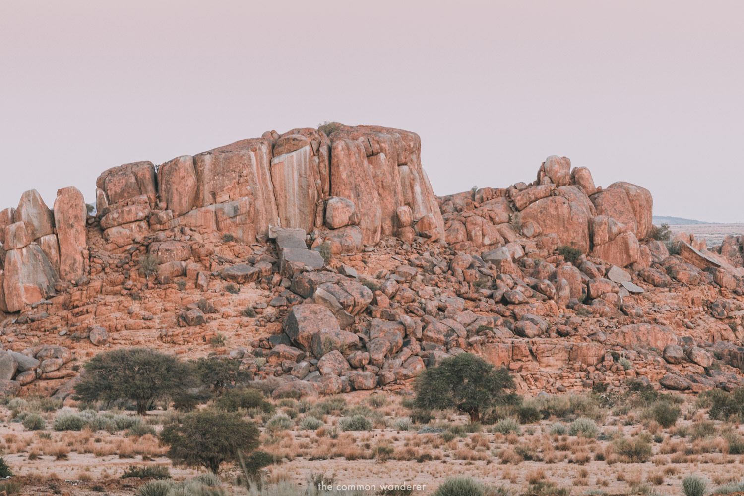 Rock formations at dusk in Namibia - best Namibia photos