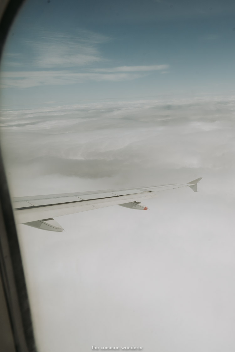 Wingtip of an AirFrance jet on the Paris to London route