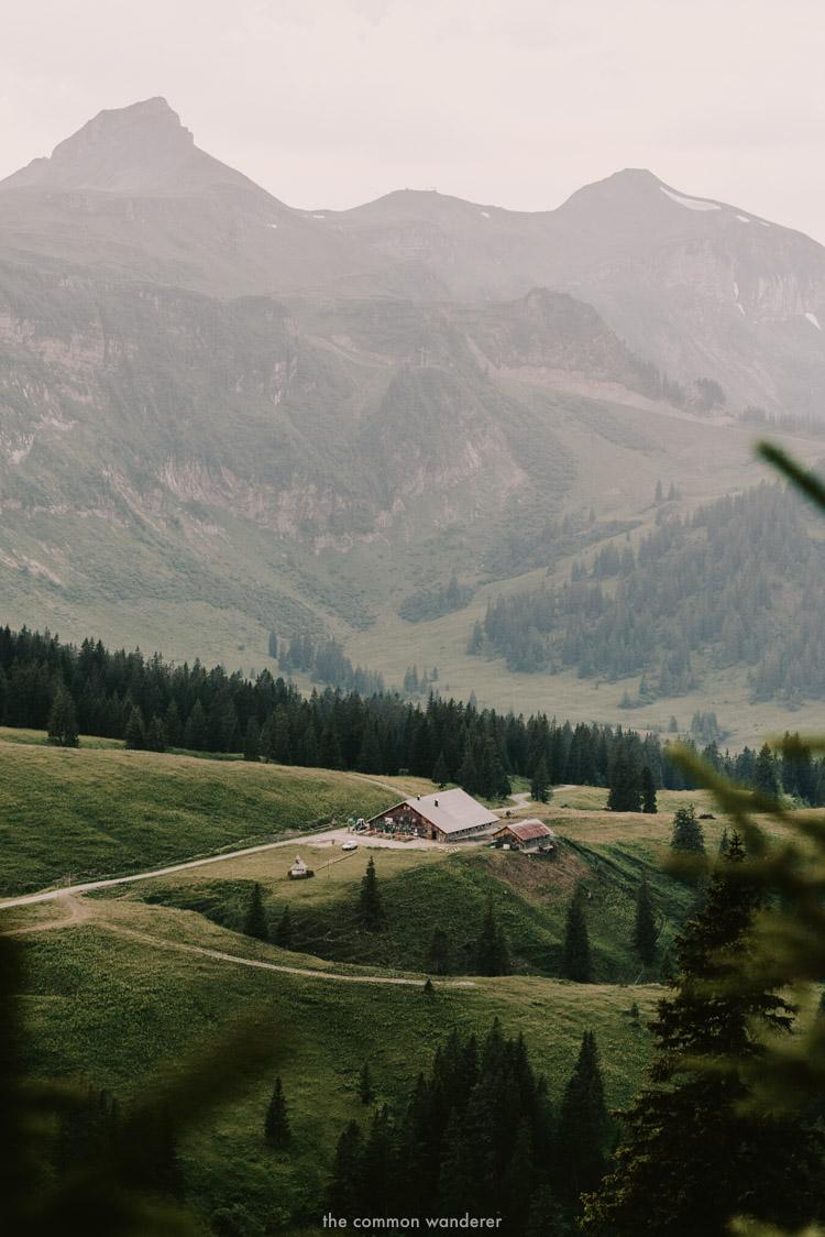 A pretty alpine house at the base of Kanisfluh, Bregenzerwald, Austria