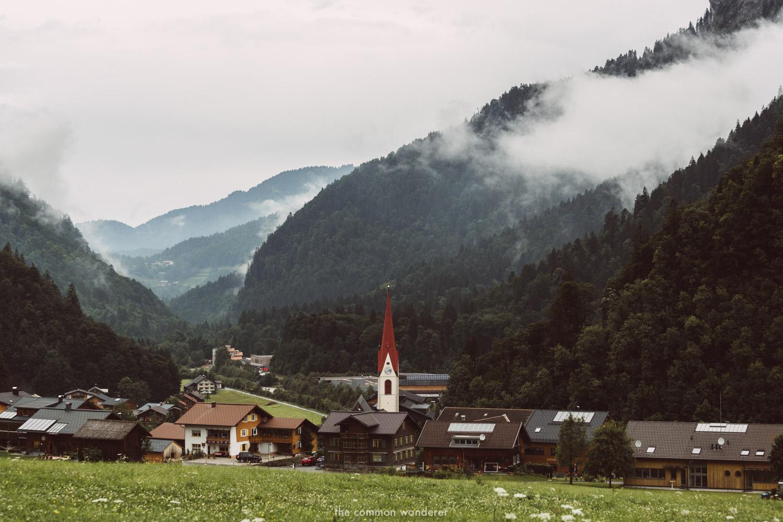 the village of Au, Bregenzerwald, Vorarlberg
