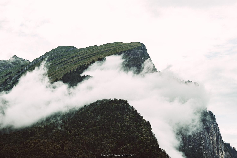 Clouds circle Kanisfluh, Au, Vorarlberg