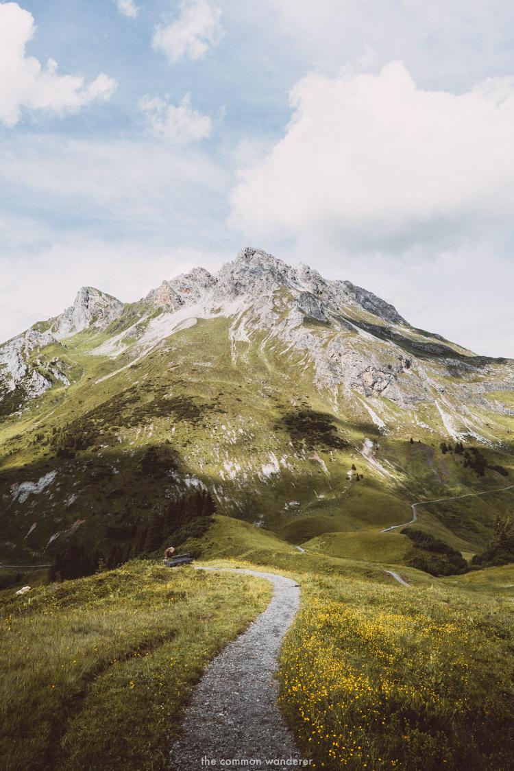 A typical scene in the Vorarlberg Alps, Austria