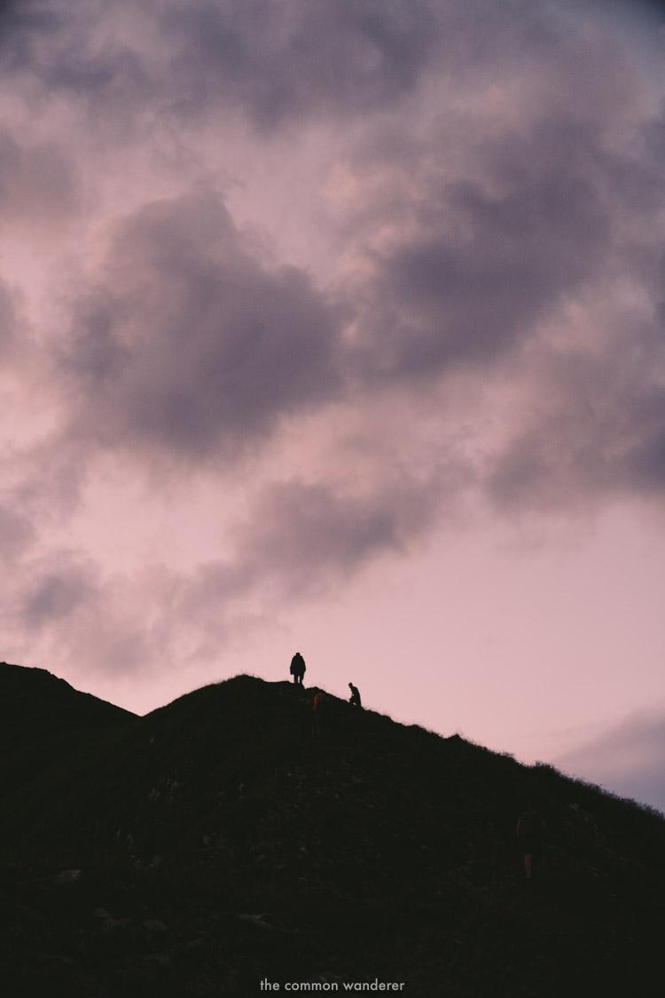 a group of hikers near the summit of Kanisfluh mountain, Vorarlberg
