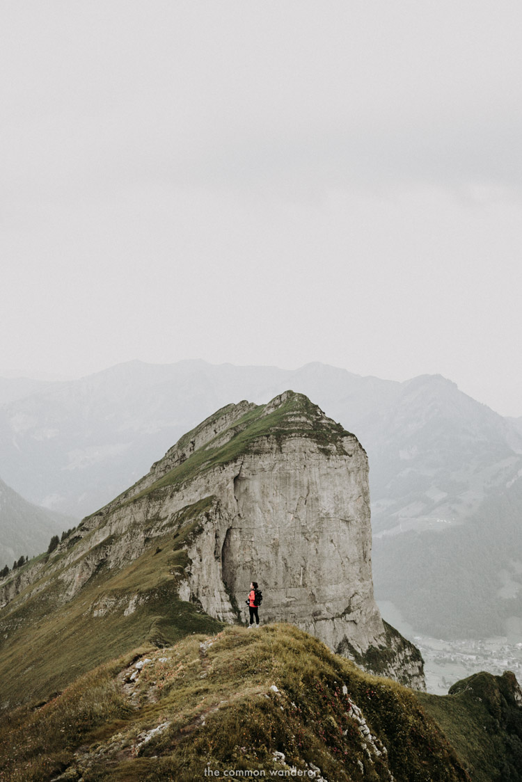 Epic limestone cliffs on the hike to Kanisfluh, Vorarlberg