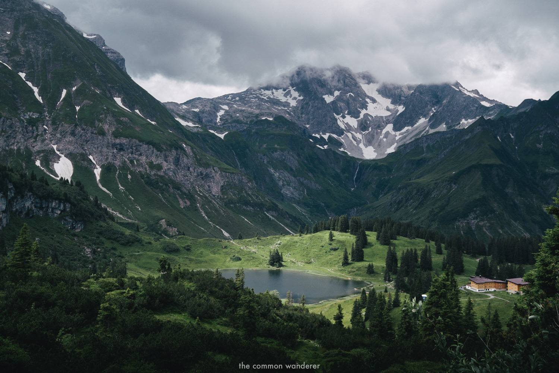 the view overlooking Lake Körbersee, Vorarlberg