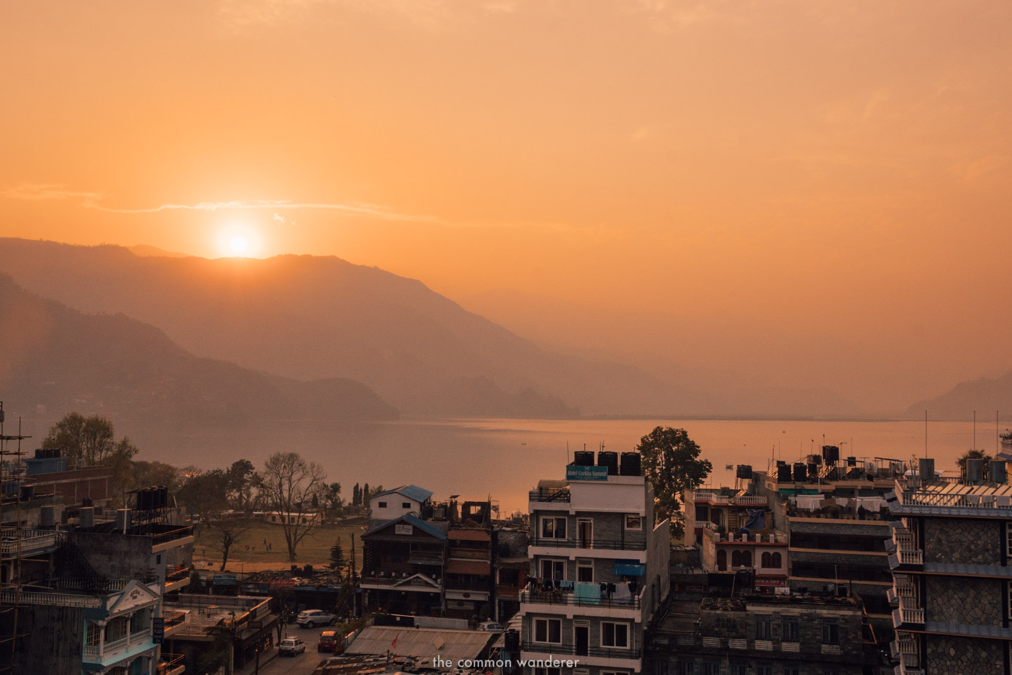 Sunset in Pokhara, Nepal