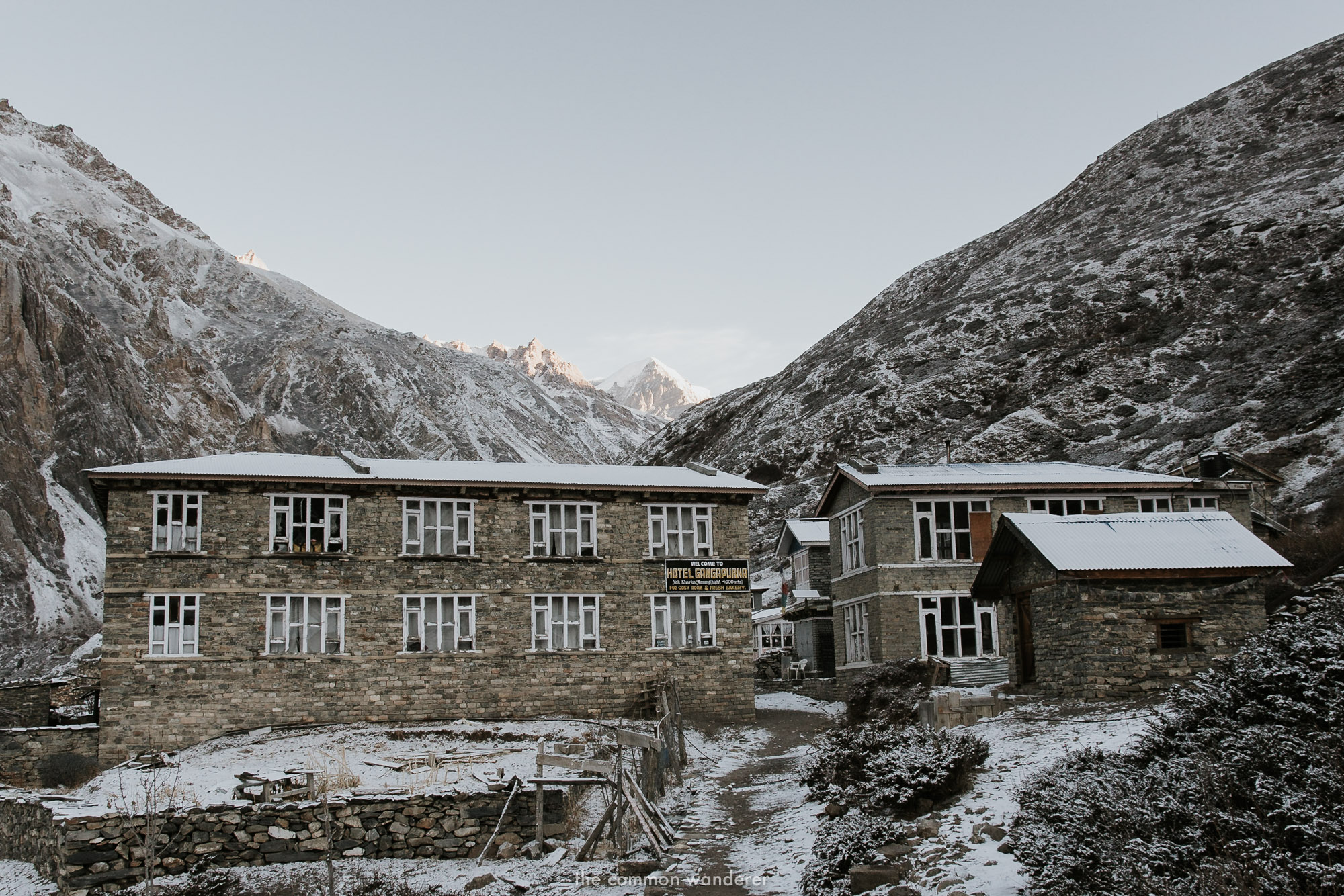 Accommodation on the Annapurna circuit trek, Nepal