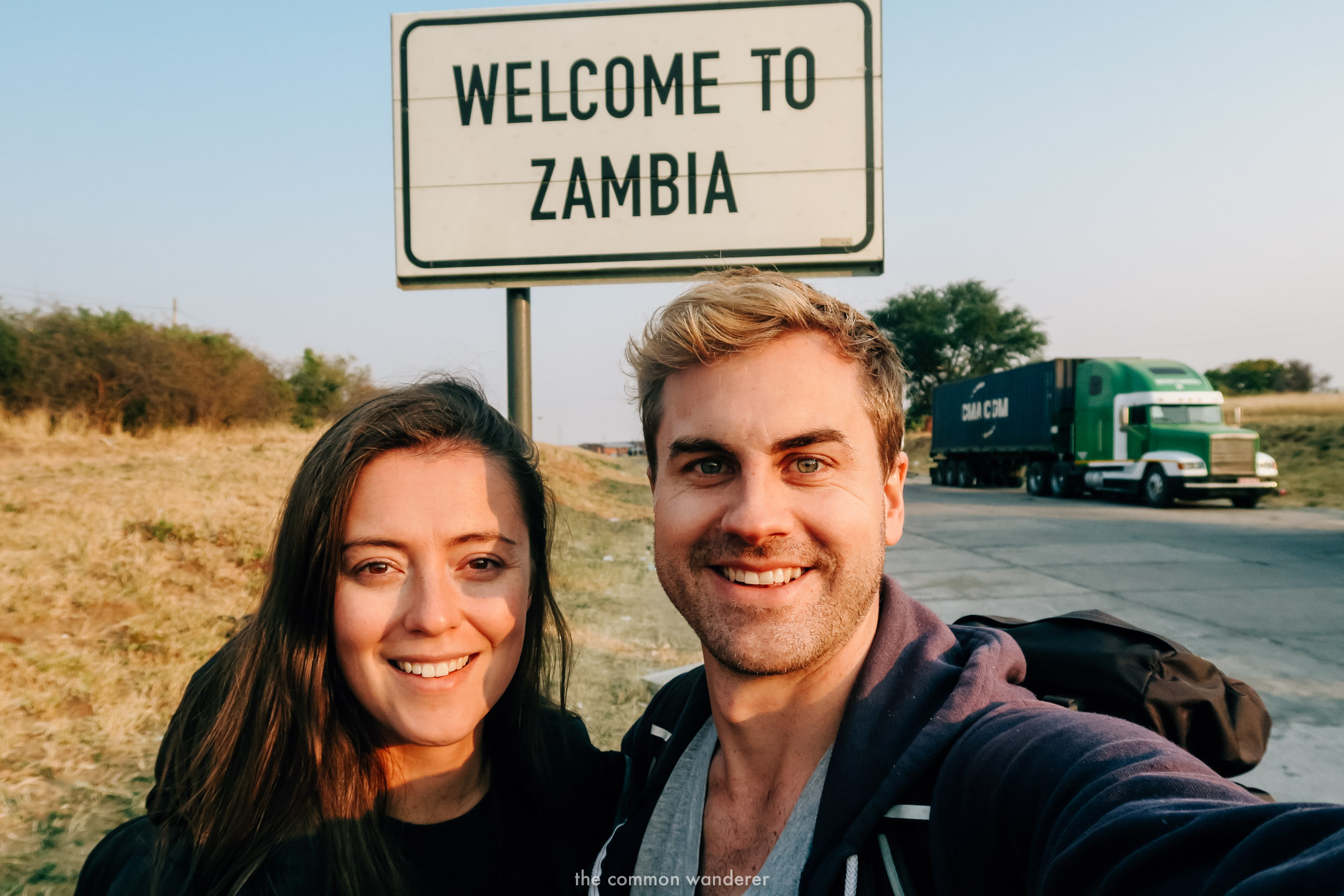 Arriving to the border of Zambia and Namibia