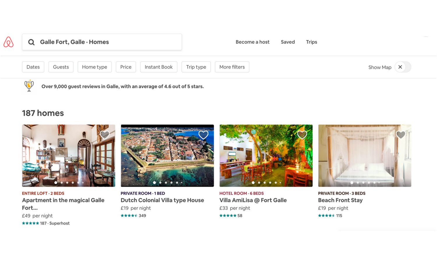 search for airbnb accommodation
