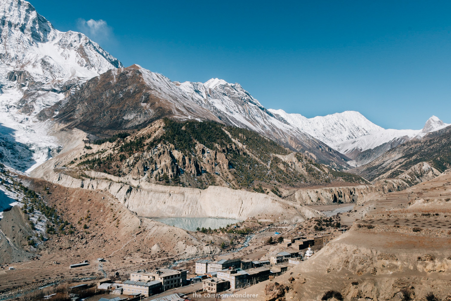 the town of Manang on the Annapurna Circuit trek, Nepal