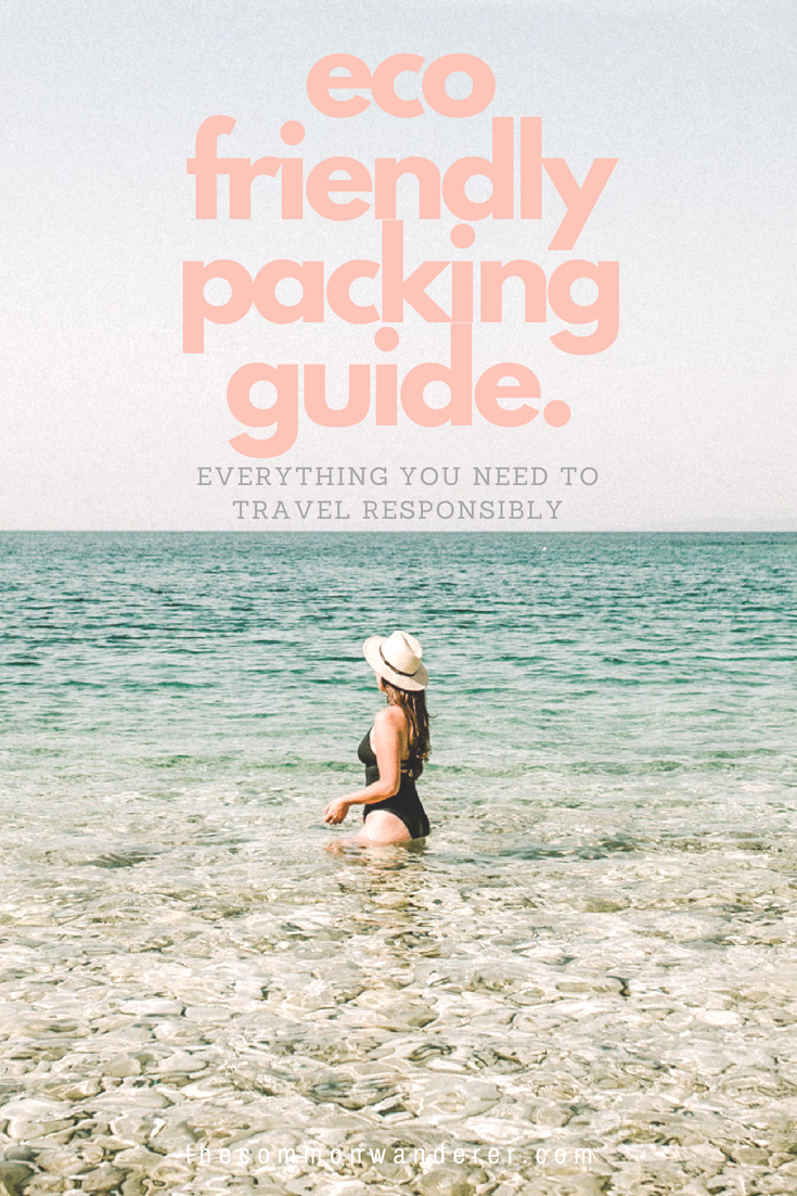 Our eco-friendly packing guide is full of the essentials to help make it easier for you travel more sustainably, no matter where in the world you're wandering. Includes water treatment solutions, plastic-free toiletries, and essential travel accessories (like KeepCups and tote bags!). | eco-friendly travel | zero waste | travel packing | sustainable travel | plastic free