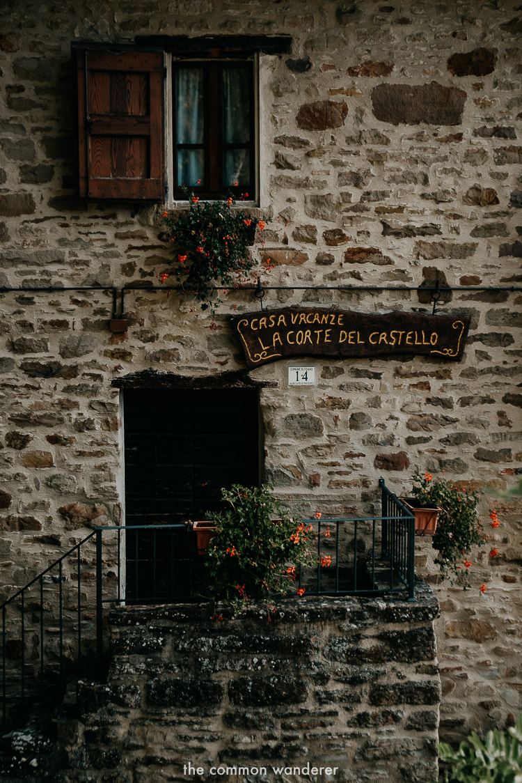 old homes on the Via Matildica in Emilia Romagna, Italy