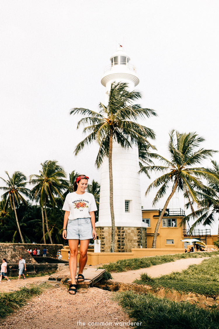 Standing in front of Galle Lighthouse, Galle Fort Sri Lanka