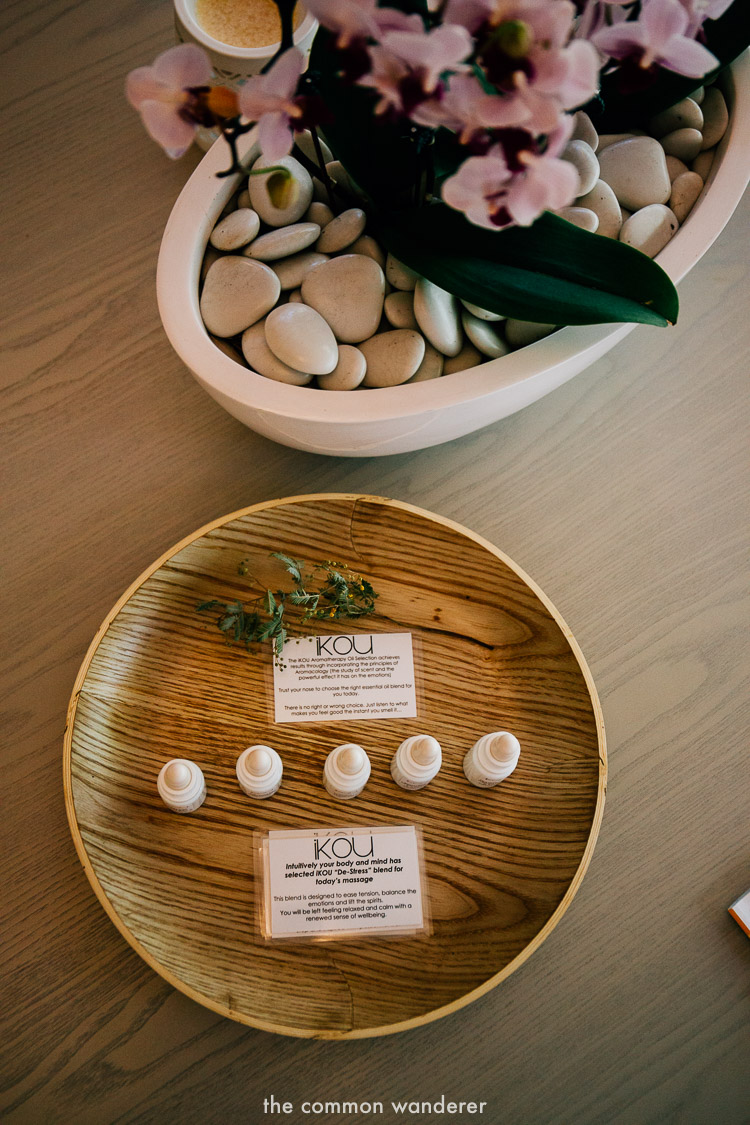 Selective iKou products at Ubika spa, Fairmont Resort Blue Mountains