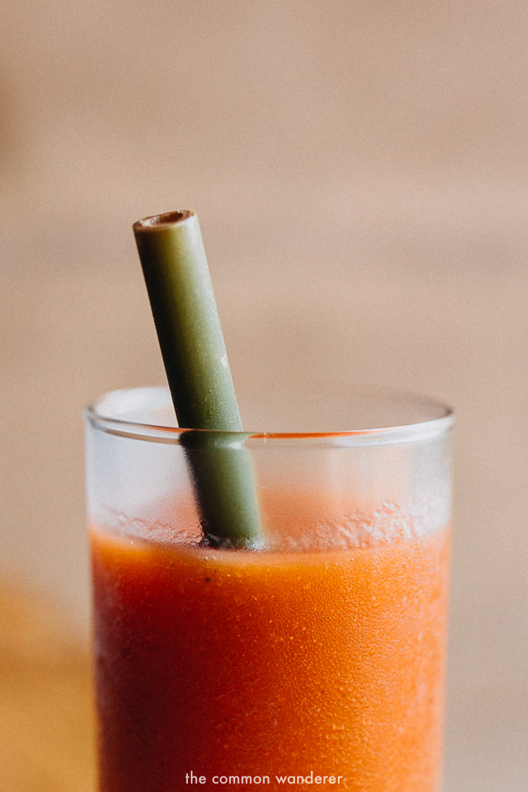 A freshly squeezed juice at Tri, Sri Lanka