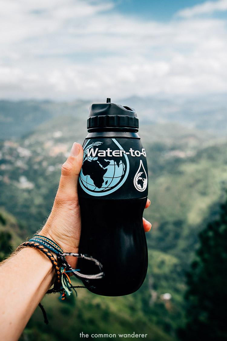 always bring a reusable bottle - sri lanka travel tips