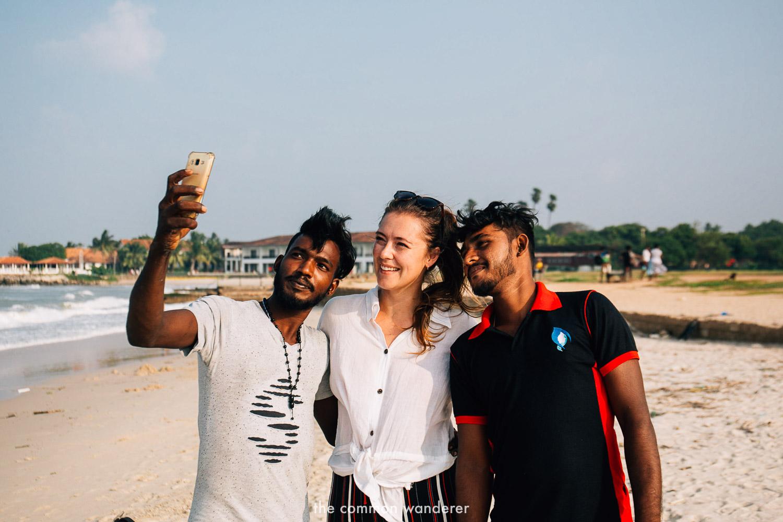 Selfie with new friends - sri lanka travel tips