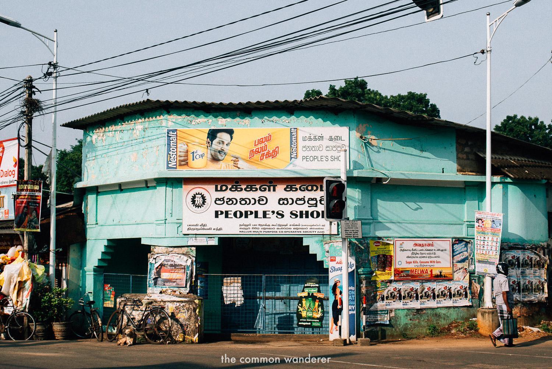 a typical Jaffna street scene