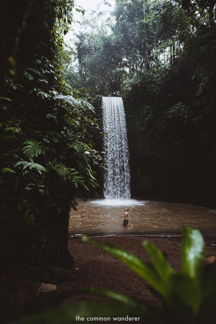 Admiring the beauty of Tibumana waterfall, Bali