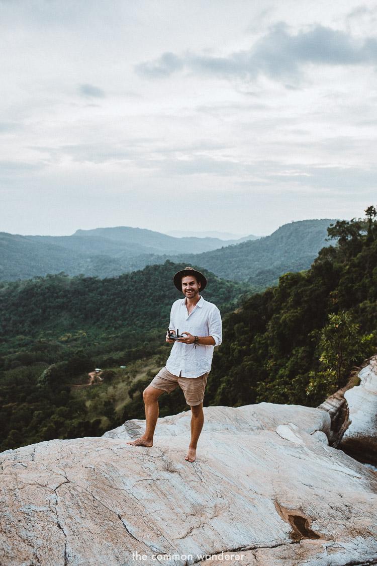 Flying the drone over Diyaluma falls, Sri Lanka | | Diyaluma Falls guide