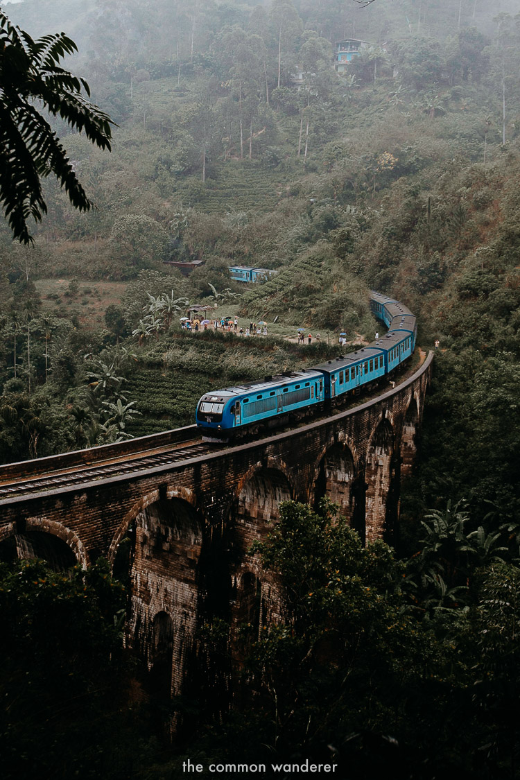 One of the viewpoints to see the best of the Nine Arch Bridge, Sri Lanka