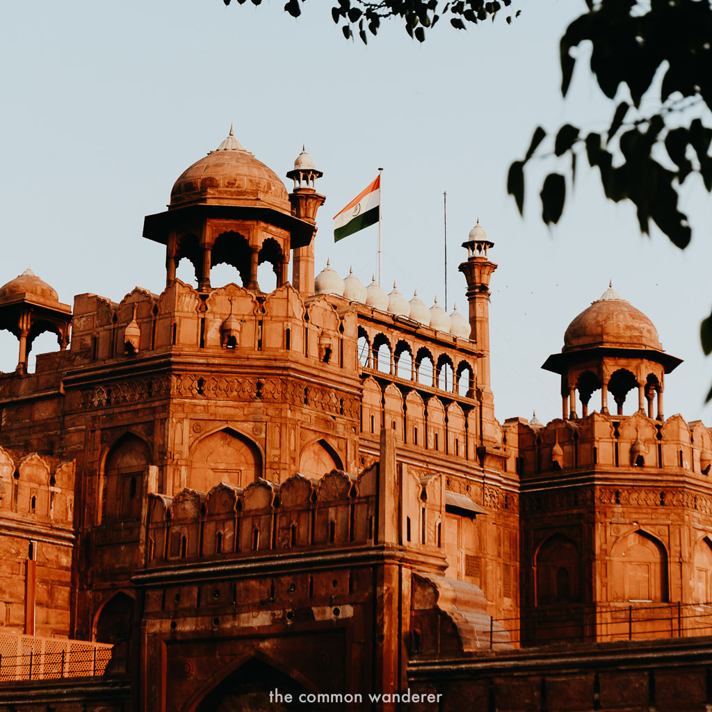 Red Fort, New Delhi - three week India itinerary