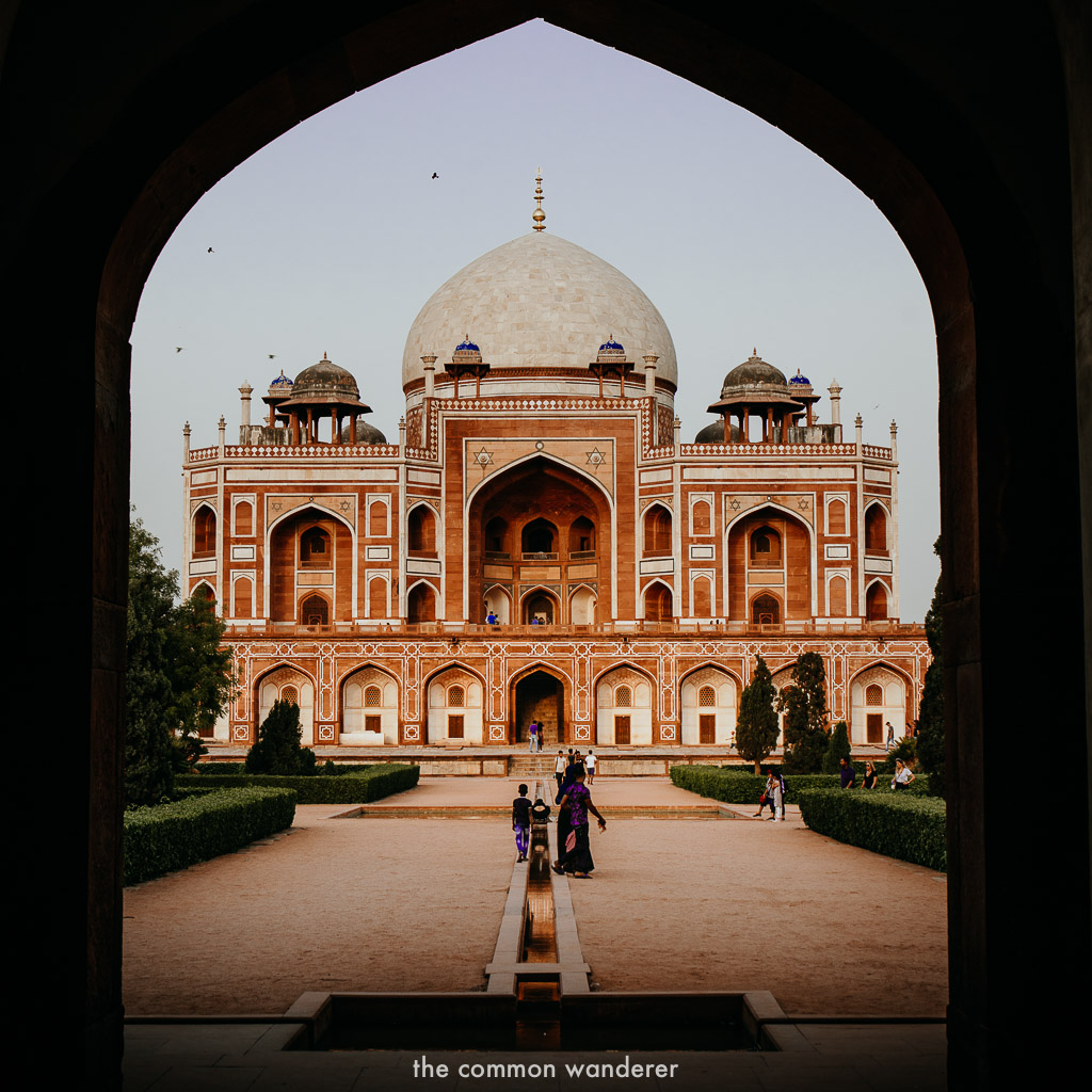 the entrance to Hayumans Tomb, New Delhi - India three week Itinerary