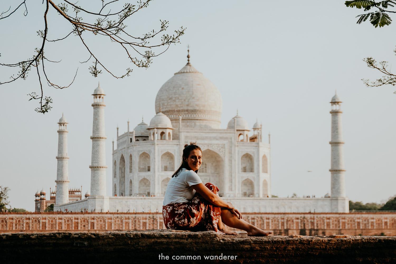 Admiring the Taj Mahal from Mehtab Bagh gardens, Agra