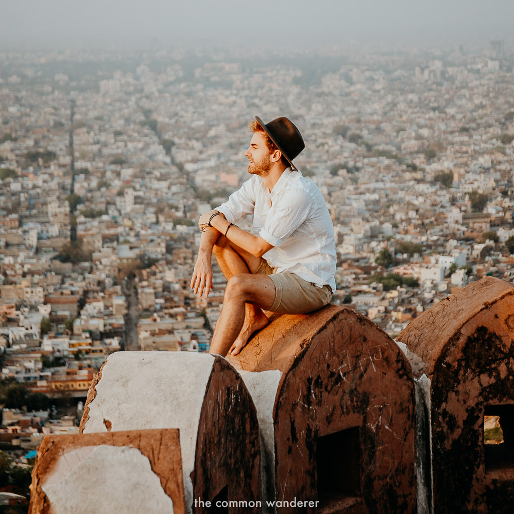 watching the sunrise from Nahargarh Fort, Jaipur
