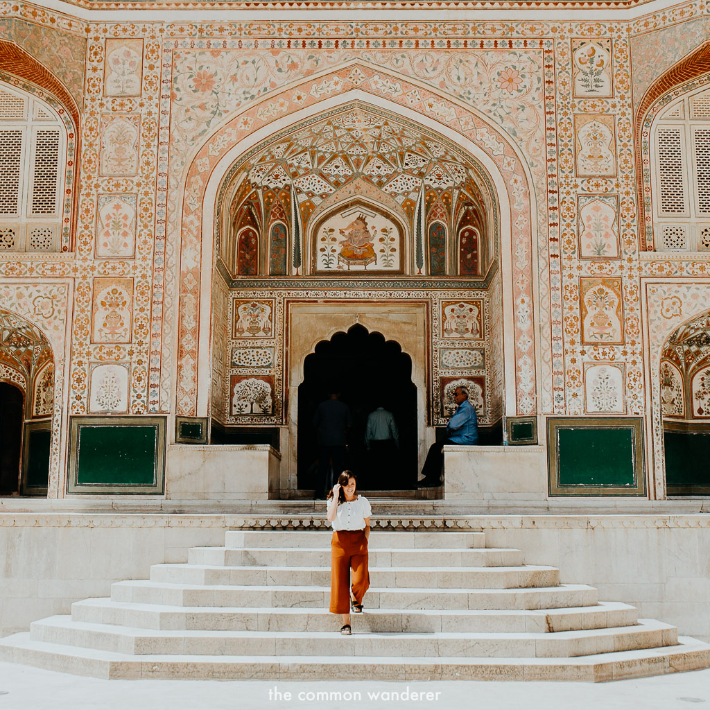 Admiring the beauty of Amber Fort, Jaipur