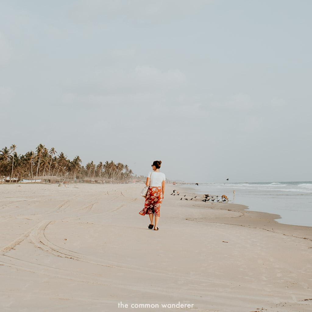 Walking along the beaches of Goa, India three week itinerary