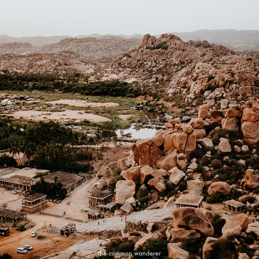 The boulders of Hampi at sunset