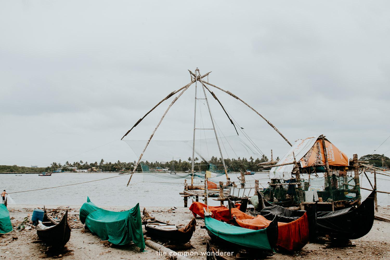 The famous chinese fishing nets of Kochi, Kerala