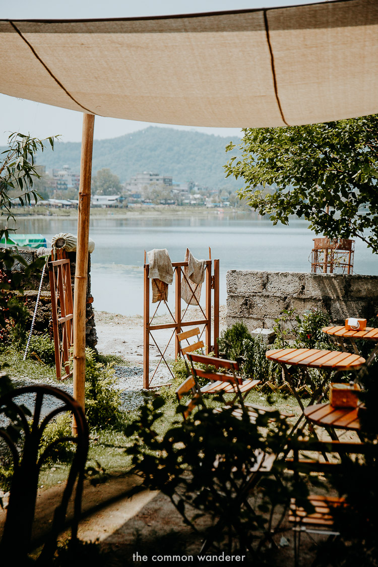 Views from the Juicery, Pokhara, one of the best places to eat in Pokhara, Nepal