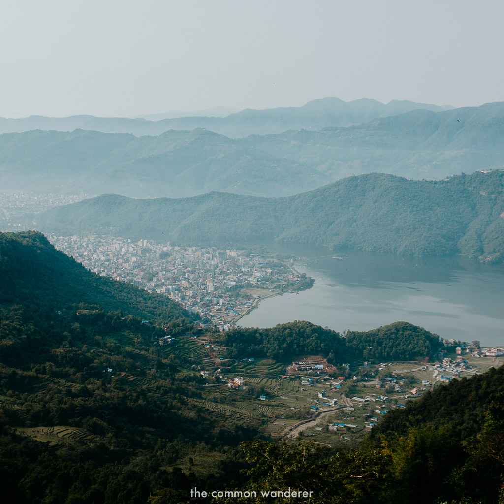 Overlooking the town of Pokhara, Nepal, from Sarangkot viewpoint - best things to do in Pokhara