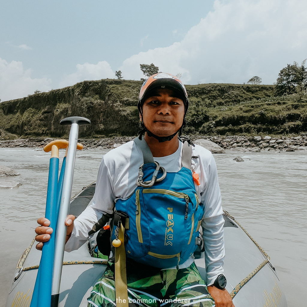Nim, our white water rafting instructor along the Seti River, Nepal