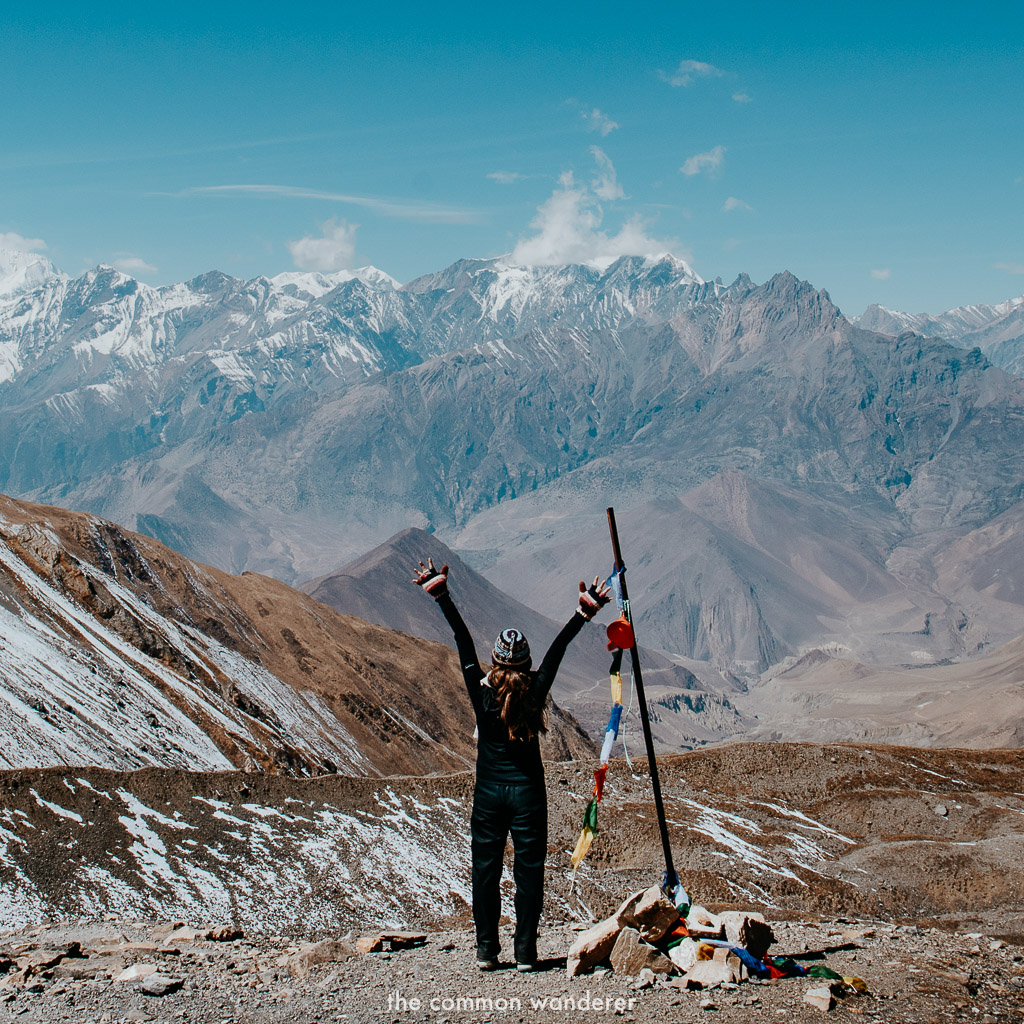 Admiring the views from the Annapurna Circuit, over Muktinath, best things to do in Pokhara