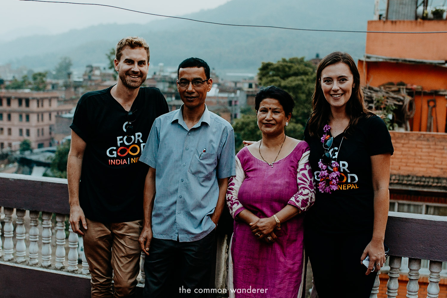 Spending time with our Panauti Community Homestay family