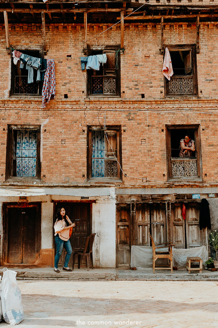 Street scenes in Panauti village, Nepal