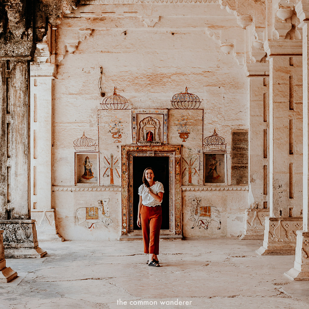 Exploring Garh palace, Bundi fort